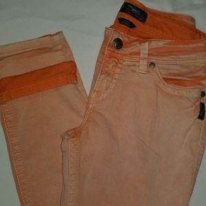 Silver Jeans Suki Skinny Orange 29 31 Orange